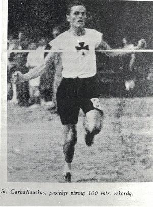 Stepas Garbačiauskas gerina pasaulio rekordą (12,1s)